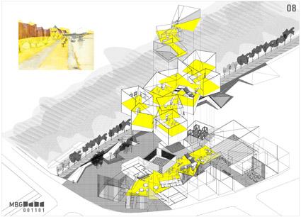 Perspectiva del proyecto para museo de historia de baviera