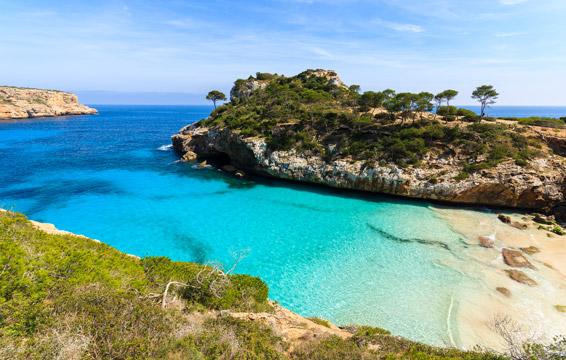 playa es caló des Moro en Mallorca